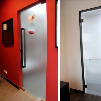 Aluminium Swing Doors Tempered Glass Entry Doors